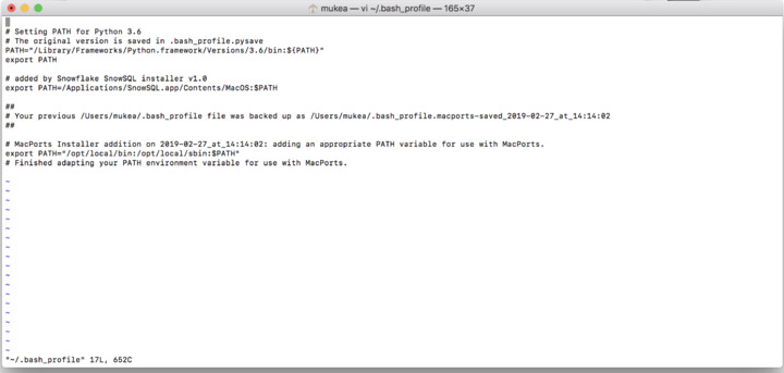 Cannot load local file to Snowsql using terminal in Mac  I use the