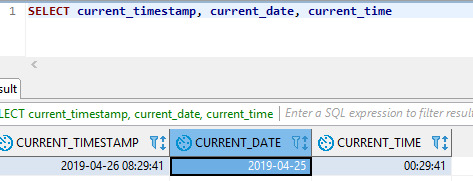 Behaviour of functions CURRENT_TIMESTAMP, CURRENT_TIME and CURRENT_DATE