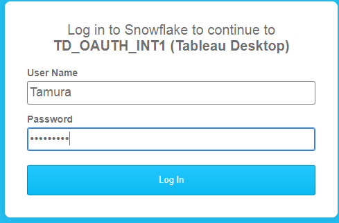 I am trying to connect to snowflake with AOuth
